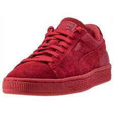 Puma Suede Classic Casual Emboss Unisex Trainers Cherry Red New Shoes
