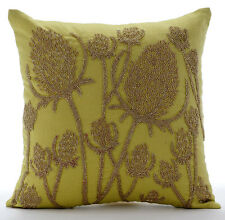 Green Cotton Linen 35x35 cm Paddy Millet Cushions Cover - Greentini