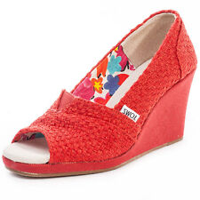 Toms Wedge Classic Womens Wedges Red New Shoes