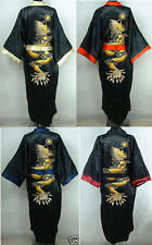 Double-Face Chinese Silk Men's Kimono Robe Gown Bathrobe With Obi M -XL XXL XXXL