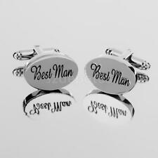Fashion Men Shirt Cufflinks Oval Silver Cuff Links Accessories