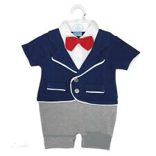 NEW BABY BOYS ROMPER ALL IN ONE JACKET, BOW TIE, SUIT, NEWBORN 0-3-6 MONTHS