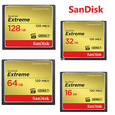 16/32/64/128GB SanDisk Extreme 120MB/s Compact Flash CF Memory Card 4K SDCFXSB