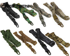 Tactical One Single Point Adjustable Bungee Hook Rifle Gun Sling Strap System