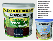 Ronseal One Coat Fence Paint Life or Plus 5L All colours Available Free P&P 48HR