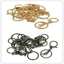 10 Set 65mm Bag Charms Lobster Claw Clasp Trigger Clip Split Ring Chain Findings