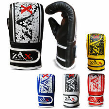 Leather Boxing Mitts Bag Gloves Sparring Training Punch Bag MMA Fight ADULTS