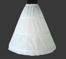 White Black 3 Hoop A Line Wedding Crinoline Gown Bridal Petticoat Skirt Slip