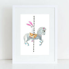NEW Carousel Bunny - Limited Edition Fine Art Print Girl's by hiccup art