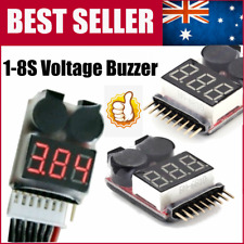 2PCS RC Lipo Battery Low Voltage Alarm 1S-8S Buzzer Indicator Checker Tester QW