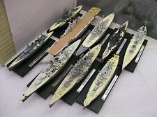 Atlas editions 1:1250 Warships HMS Vanguard Nelson Warspite Exeter Renown George