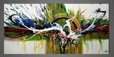 Abstract Oil Painting on Canvas Handmade Colorful Wall Art for Home Decor Framed