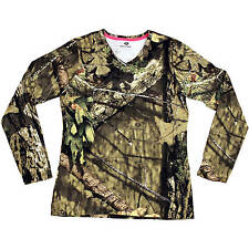 Mossy Oak Break-up Country Women's/Ladies Camo Long Sleeve V-neck T-Shirts:S-2XL