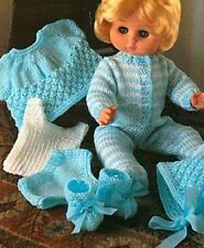 CHOOSE FROM 45 DOLLS CLOTHES/TEDDIES,TOYS KNITTING PATTERNS
