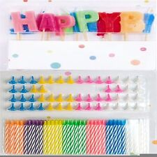 13Pc Happy Birthday Glitz Party Glitter + 152 Candles With Holders Wedding Party