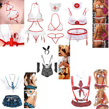 Women Sexy Lingerie Costume Uniform Mini Dress Set Cosplay Cloth Sleepwear ZY