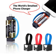 5# AA Battery Micro USB Smallest Emergency Phone Charger For Samsung HTC Android