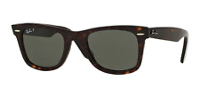 Ray-Ban Wayfarer RB2140 902/58 Tortoise Green Polarized Sunglasses (Authentic)