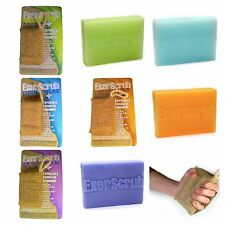 Exerscrub 130 g aromatherapy soap with jute exfoliator bag, refills available