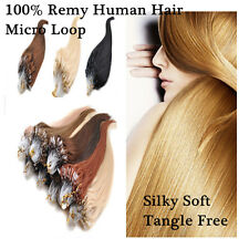 26inch Micro Ring Loop Beads Tipped 100% Remy Real Human Hair Extensions 100S
