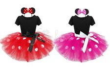 Baby Toddler Girls Minnie Mouse Tutu Dress Fancy Party Tulle Skirt Ears Costume