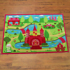 KIDS/CHILDREN PINK PRINCESS CASTLE MAT NONSLIP BEDROOM PLAYROOM FLOOR RUGS MATS