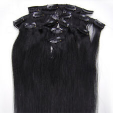 "15"" 70grams Full Head Clip in 100% Indian Premier Remy 5A Human Hair Extensions"