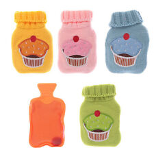 FUN MINI PENGUIN & CUPCAKE HAND WARMERS HOT WATER BOTTLE WITH KNITTED COVER GEL