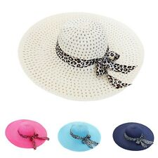 Multi-Color Summer Sun Hat Wide Brim Women Beach Hat Straw Outdoor Sun Hat