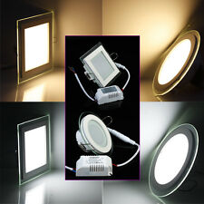 9W-18W Round/Square CREE Dimmable LED Recessed Ceiling Panel Downlight Bulb Lamp