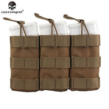 Tactical Emerson Modular Triple Magazine Pouch Paintball MAG Pouch CORDURA 6355