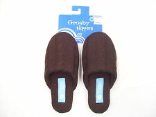 GROSBY BELLE CHOCOLATE COLOUR SLIPPERS SIZE SMALL MEDIUM LARGE