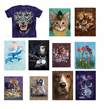 Sale - Cotton Ladies, Mens, Girls & Boys Animal Designs T-Shirt by The Mountain