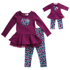 Dollie & Me Legging Set w/Matching Outfit For 18-in Doll Purple Choose Size NWT