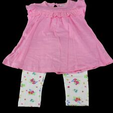NWT BABALUNO Baby Girls Floral Leggings Tunic 2 Pc Set Outfit 12-18-24 m England