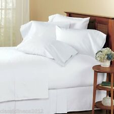 100% EGYPTIAN COTTON SOLID COMPLETE BEDDING ITEMS 1000TC WHITE  ALL SIZE