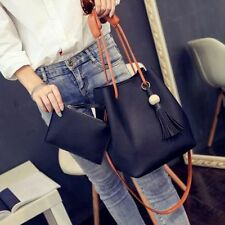 Women Leather Handbag Shoulder Purse Tote Messenger Satchel Hobo Bucket Bag Lady