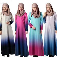 Women Muslim Ramadan Kaftan Islamic Jilbab Abaya Arab Maxi Cocktail Long Dress