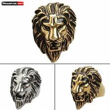 Vintage Steampunk Gothic Animal Lion Head King Shape Stainless Ring Jewelry Mens