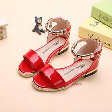 New Summer Children Young Kids Girls Ankle Metal Link Princess Open-toed Sandals