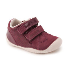 Start-rite Girls Baby Turin Wine Spot Nubuck / Patent Pre-walker 07401_8
