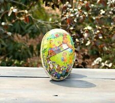 Vintage Paper Mache German Lithographed Cardboard Easter Egg Candy Container