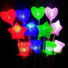 1PC LED Flashing Stick Heart Shape Rose Shape Star Shape Wands Party Concert NEW