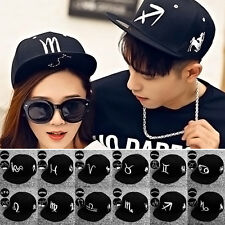 Hot Sale Unisex Baseball Cap Twelve Constellation Hip Hop Embroidery Hat New