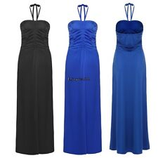 Meaneor Sexy Women Halter/ Strapless Empire Waist Solid Long Maxi Evening OO5502