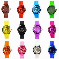 Vogue Women Ladies Girls Jelly Candy Unisex Quartz Silicone Strap Wrist Watch