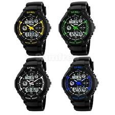 Mens Analog Digital LED Date Day Army Sport Alarm Quartz Wrist Watch Waterproof