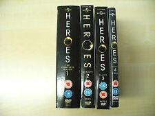 HEROES Complete series 1,2,3 and 4 DVDs Watched once.