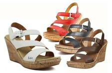 b.o.c. by BORN Pretty, Strappy Stylish Wedge Sandals in 3 Colors, Orig. $90.00