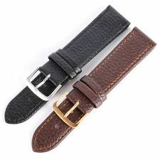 Soft Leather Wrist Watch Band Strap Belts Replacement Black/Coffee Watch strap